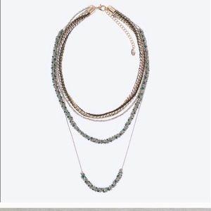 Zara Woman Multi Layered Necklace